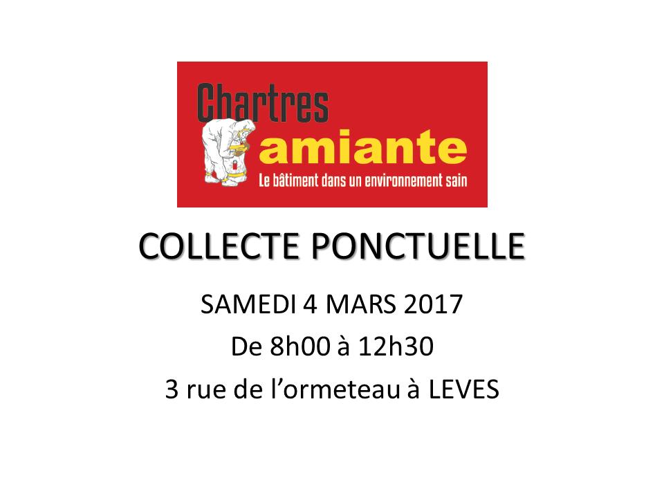 Collecte ponctuelle d'amiante par CHARTRES AMIANTE
