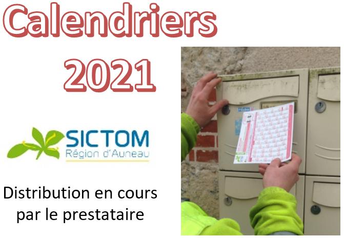 Distribution des calendriers de collectes 2021