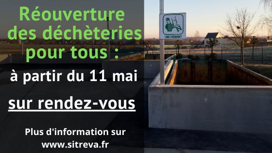 Réouverture des déchèteries de Angerville, Roinville et des Villages Vovéens pour tous sur rendez-vous